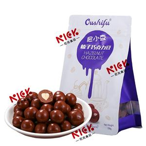 Oushifu milk chocolate with hazel in bags 158g