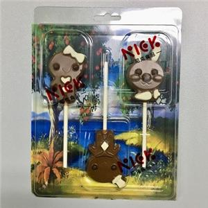 milk chocolate sharing packaging with 3pcs lollipop--12g/pcs