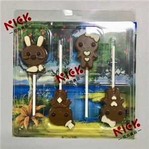 milk chocolate sharing packaging with 4pcs lollipop --12g/pcs