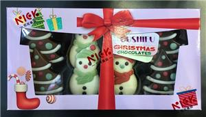 Christmas gift box of chocolate