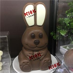 3D hollow rabbit milk chocolate