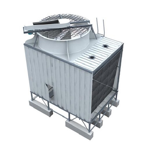 All steel Single side Air Inlet Top Discharge Cross Flow Cooling Tower