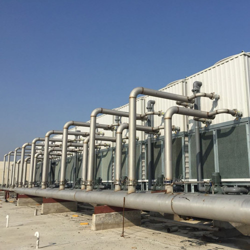 FRP Copper Coil With Fills Counter flow Cooling Tower