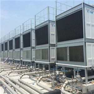 FRP Stainless Steel Coil With Fills Cross flow Cooling Tower