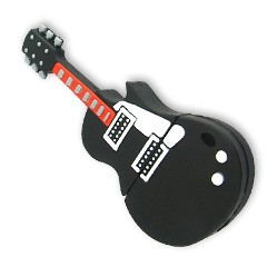 Silicon Guitar Shape USB Flash Drives