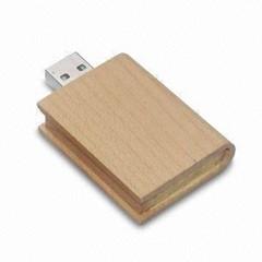 Forme de livre en bois clé USB
