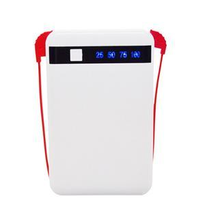 Banque portative de puissance d'usb numérique de 8000mah double avec le câble intégré