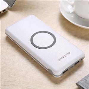 Leather Craft 8000mah Wireless Power Bank Charger