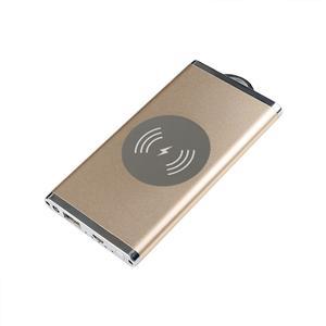 5000mAh Aluminum Alloy Qi Wireless Charger Power Bank