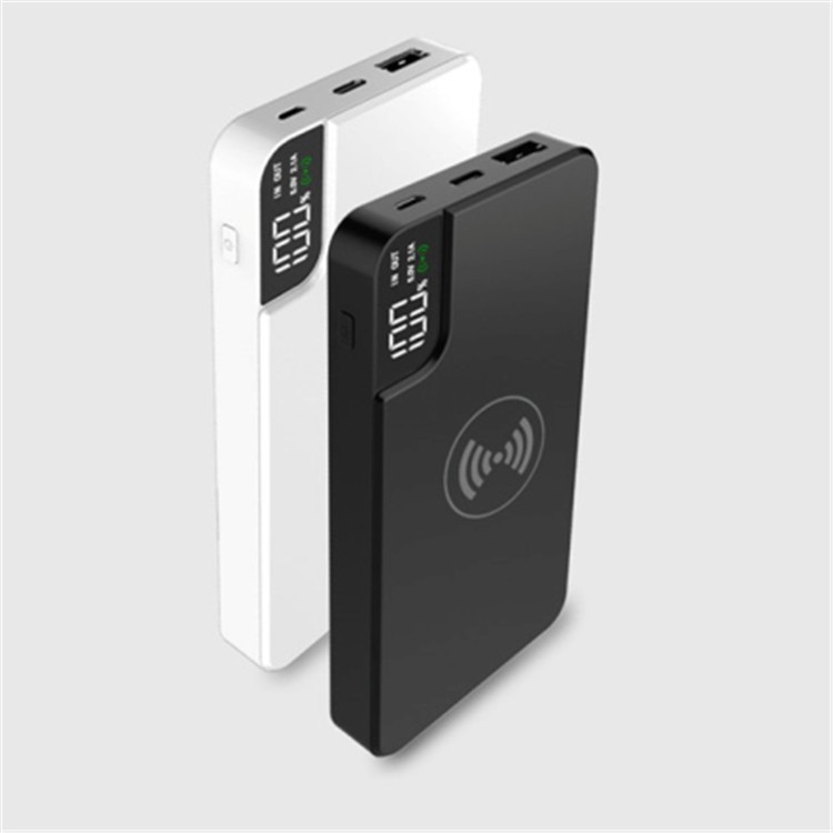 10000mah Digital Wireless Power Charger With Stand Power Bank