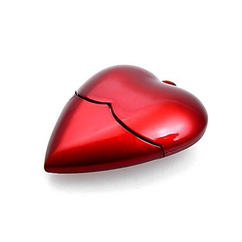 Szív alakú USB flash meghajtó valentin ajándékhoz
