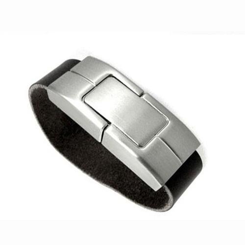 Leather USB Wristband