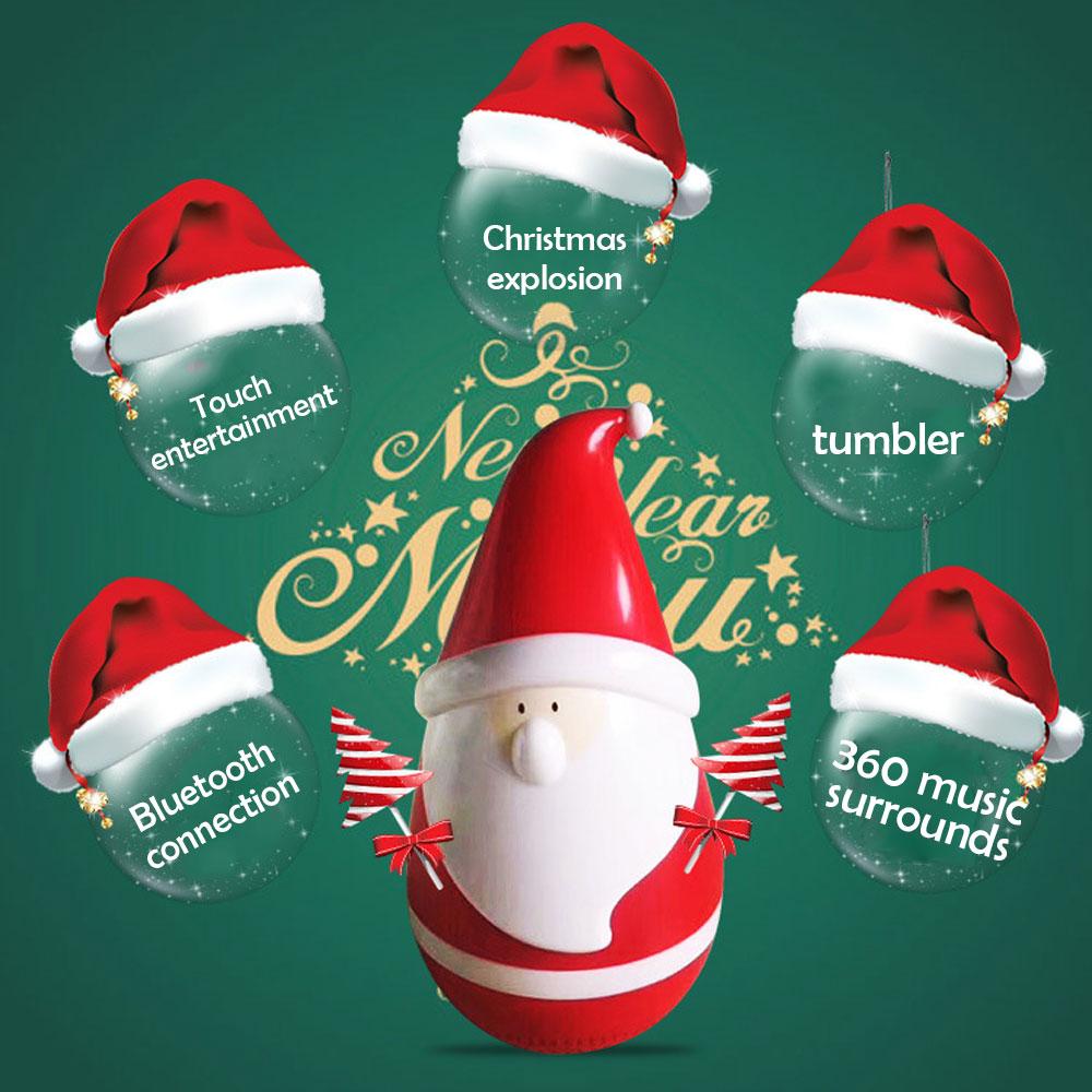 Santa Claus speaker,Santa tumbler bluetooth speaker,Christmas gift