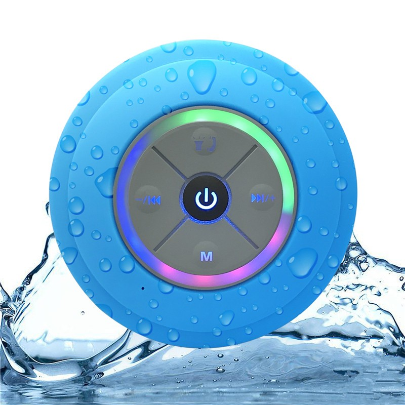 gadgets 2019 Portable Waterproof multifunctional stereo bluetooth Speaker 2.0 with LED lights