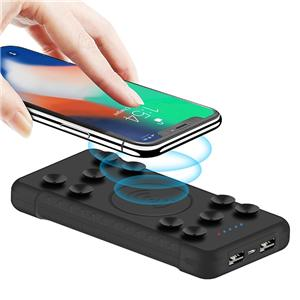 trending products 2019 new arrivals wireless power bank with sucker portable power source for cooporate gifts