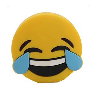 Factory promotion 2600mah emoji carton smile power bank