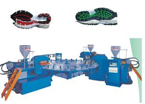 Three Colors TPR Outsole Injection Machine