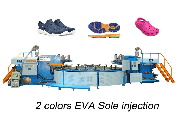 2 Colors EVA Sole Preform Injection Molding Machine
