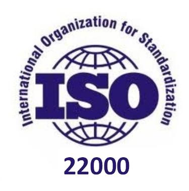 ISO 22000 - Sistem de management al siguranței alimentelor