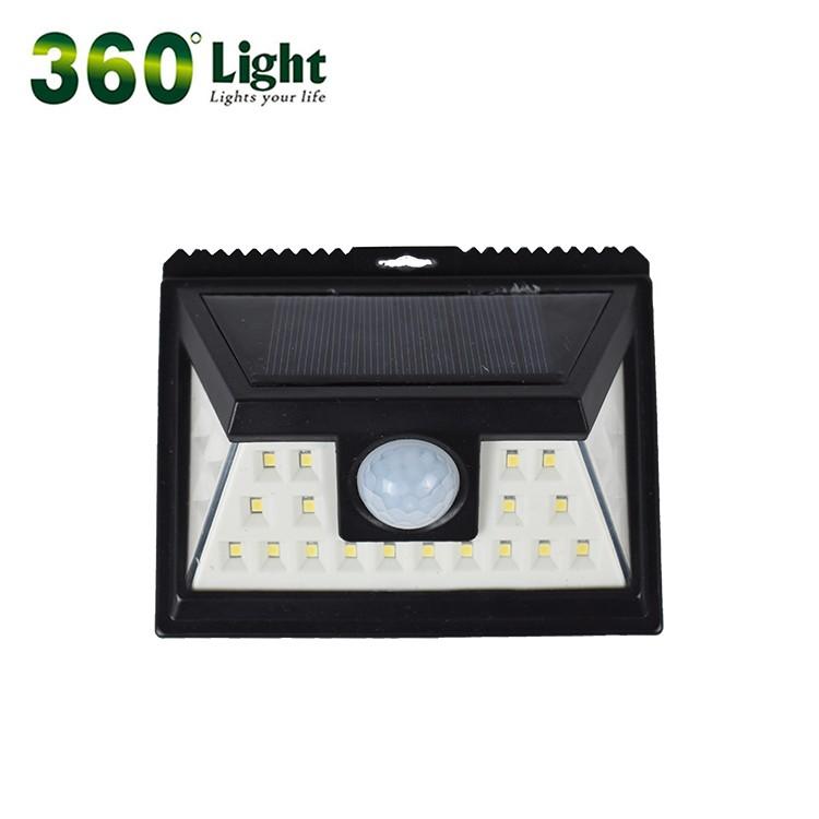 24 led solar wall light