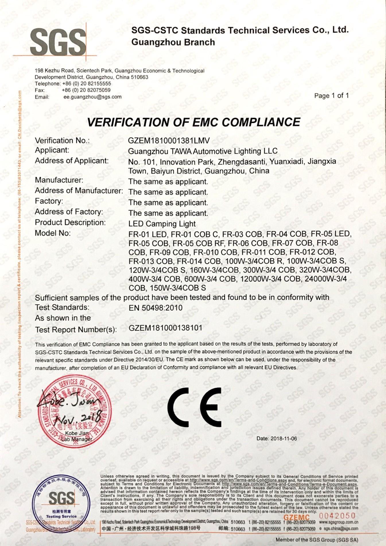 CE EMC certification