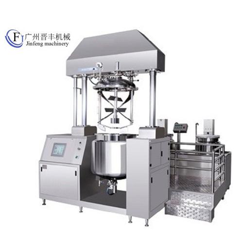 Tilting Vacuum Homogenizing Emulsifier With Upper Homogenizer