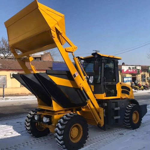6000kg Site Dumper With Bulldozing Blade Construction Machine