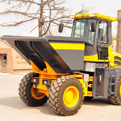 4000kg Site Dumper With Bulldozing Blade Construction Machine