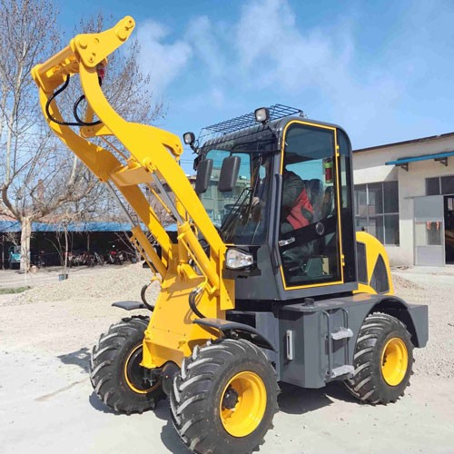 ZL-08 Wheel Loader With CE With Forklift And 4 In 1 Bucket