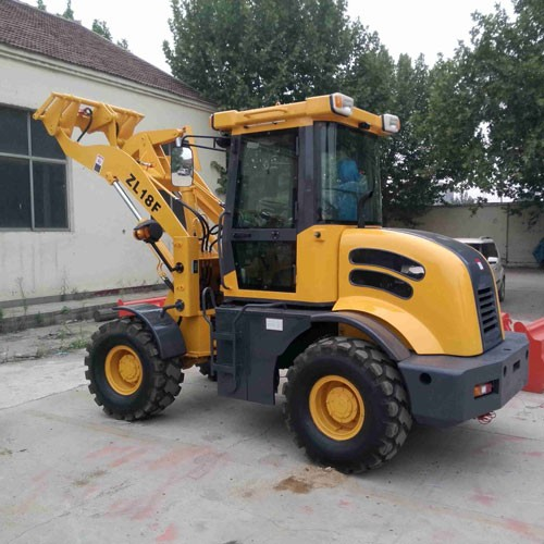 ZL-18 Wheel Loader With CE With Forklift And 4 In 1 Bucket