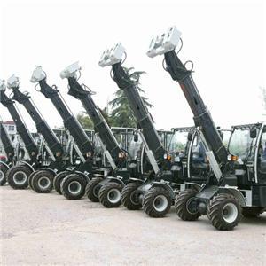 Mesin Penanganan Kecil Wheel Telescope loader