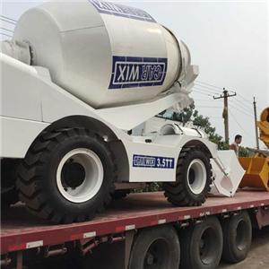 Self-loading Concrete Mixer Working In Kazakhstan