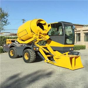 Concrete Mixing Truck With Automatic Self Feeding Fuction