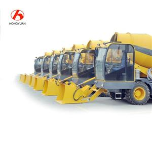 Self Propelled Towable Concrete Mixer With 4m3 Mixing Capacity
