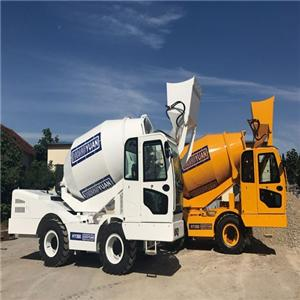 Mobile 4X4 Mini Self Loading Concrete Cement Mixer