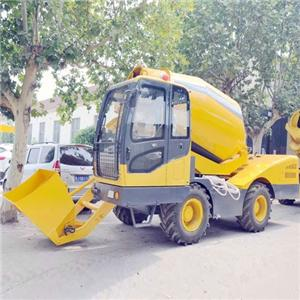 Small Self-loading Mobile Concrete Mixer With Pump
