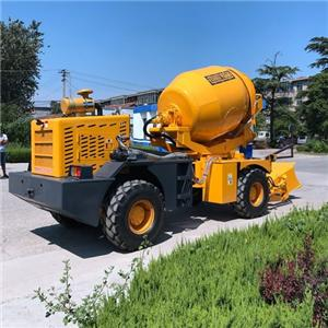 Small Self Loading Concrete Mixer With Water Pump
