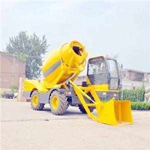 Transiting Self Loading Concrete Mixer Diesel Engine