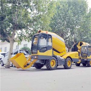 Self Loading Mobile Concrete Mixer Concrete Truck