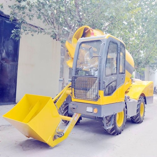 3.5 Cubic Meters Mobile Concrete Mixer With Self Loading