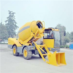 QGMC Self Loading Concrete Mixer Truck Use