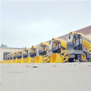 Building Construction 4cbm Self-propelled Mobile Concrete Mixer
