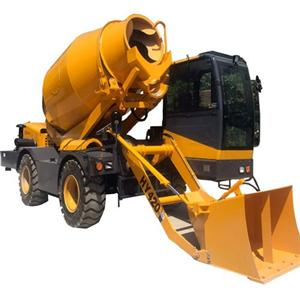 Rotating Drum Cement Mixer New Self Loading Mobile Concrete Mixer