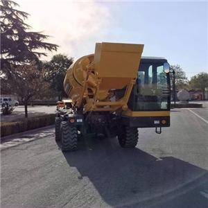 Qingzhou Good Quality Mobile Self-loading Concrete Mixer For Sale