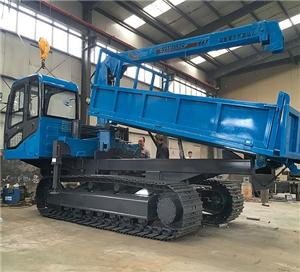 Palm Crawler Dumper With Swing Crane