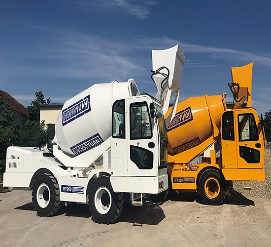 Heavy Duty Self Loading Mobile Concrete Mixer