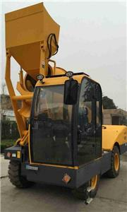 Features of self loading concrete mixer