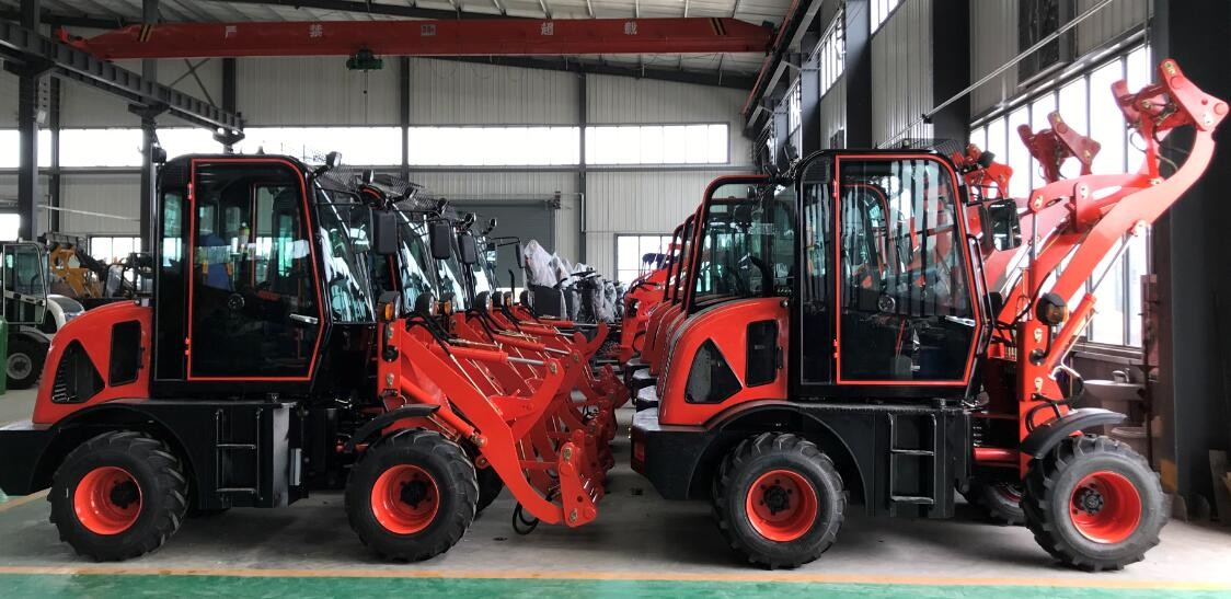 memuat 12 set wheel loader ZL-08