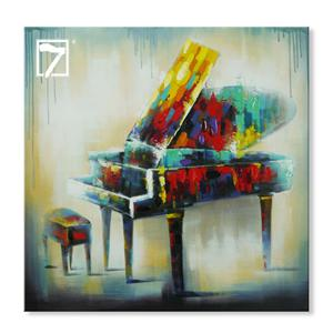 Arte da lona do piano do instrumento musical