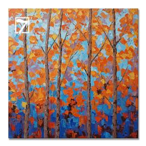 Wall Art Supplier Birch Landscape Painting
